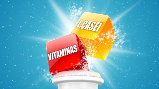 … gracias a su fórmula con L. Casei y, además, vitamina D que ayuda a las defensas y vitamina B6 que también ayuda a reducir el cansancio y la fatiga.
