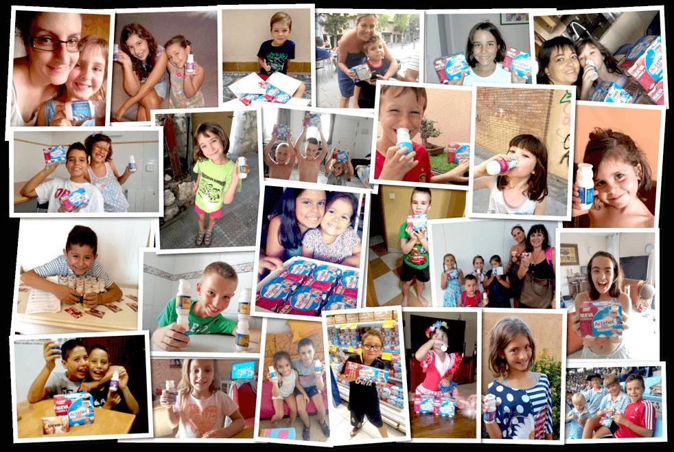 Los niños disfrutan con Actimel Kids.