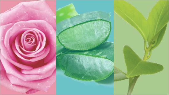 … con un 96 % de ingredientes de origen natural, sin parabenos, siliconas, aceites ni colorantes…